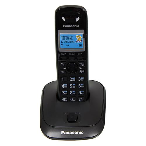 Радиотелефон PANASONIC KX-TG2511RUT, темно-серый металлик и черный радиотелефон