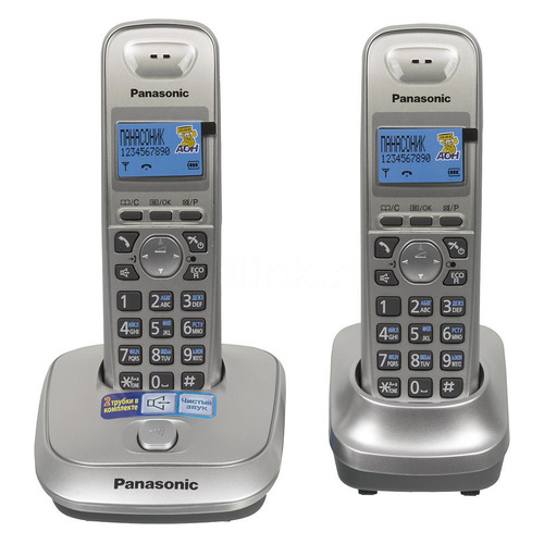 Радиотелефон PANASONIC KX-TG2512RUN, платиновый радиотелефон dect panasonic kx tg2511run платиновый