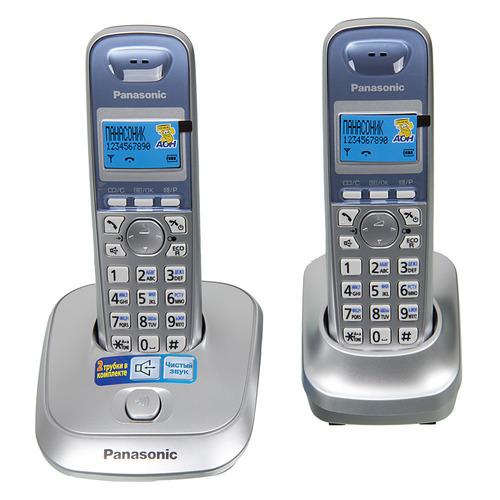 Радиотелефон PANASONIC KX-TG2512RUS, серебристый радиотелефон