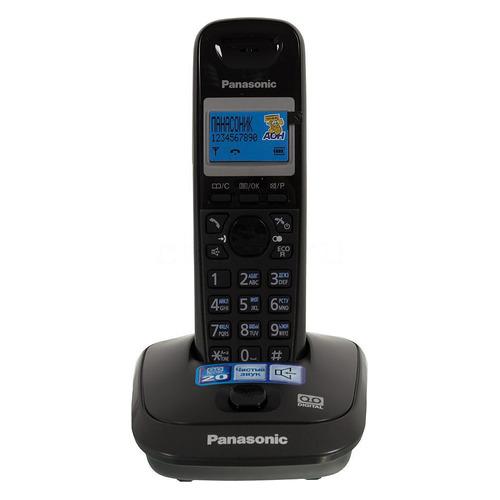 Радиотелефон PANASONIC KX-TG2521RUT, темно-серый металлик цена и фото