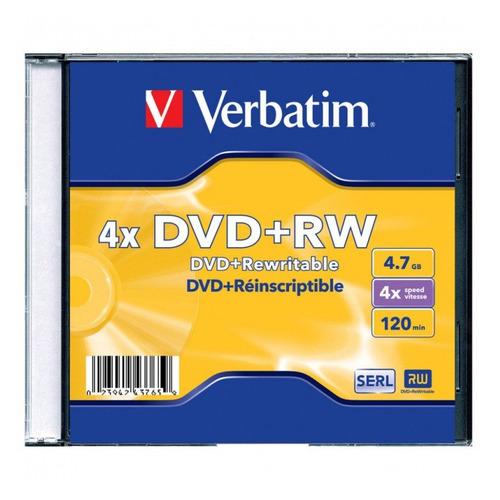 Фото - Оптический диск DVD+RW VERBATIM 4.7Гб 4x, 1шт., jewel case [43228/43229/43246] dvd blu ray