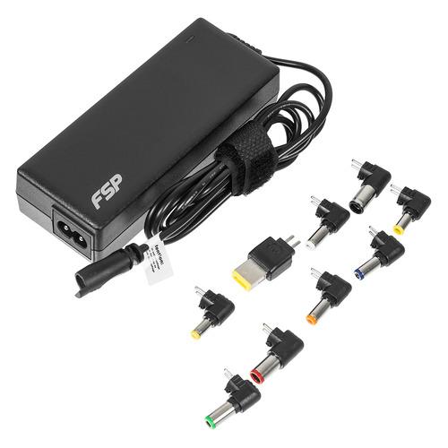 Фото - Адаптер питания FSP NB 90, 90Вт, универсальный, черный универсальный блок питания для ноутбуков нетбуков и цифровой техники на 90w с usb портом 2 1a