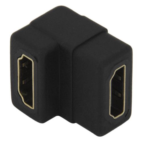 цена на Адаптер аудио-видео HDMI (f) - HDMI (f) (Г-образный), черный