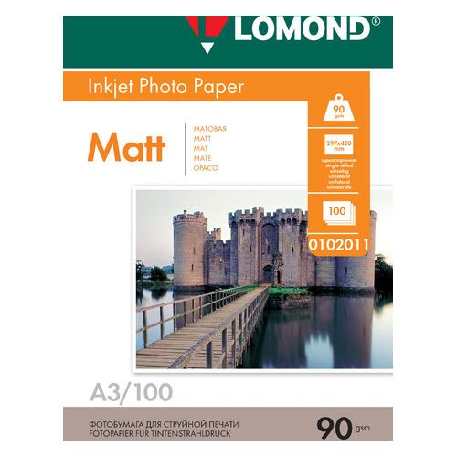 Фото - Фотобумага Lomond 0102011 A3/90г/м2/100л./белый матовое для струйной печати калька hp c3868a 90г м2 белый для струйной печати