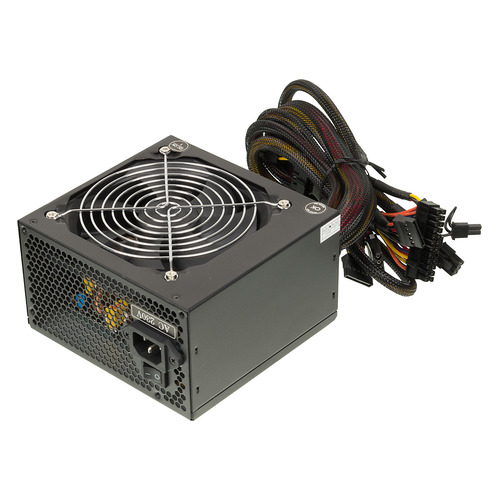 Блок питания HIPRO HPC500W-Active, 500Вт, 120мм, черный, retail 1stplayer black widow 500w active pfc high performance atx power supply 80 plus bronze certified full modular