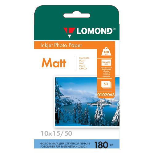Фотобумага Lomond 0102063 10x15/180г/м2/50л