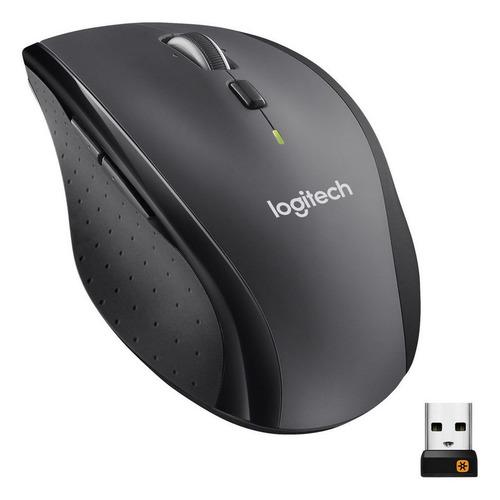 лучшая цена Мышь LOGITECH M705, лазерная, беспроводная, USB, серебристый и черный [910-001949]