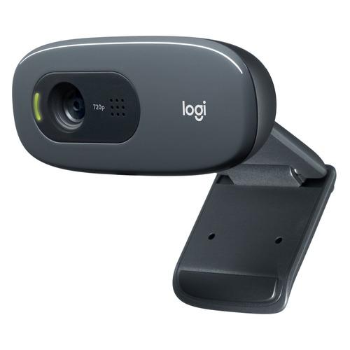 Web-камера LOGITECH HD Webcam C270, черный [960-001063] камера web logitech pro stream c922 usb2 0 с микрофоном 960 001088 473299 черный