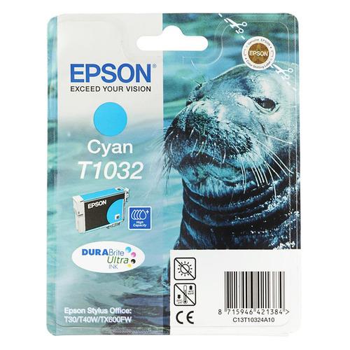 Картридж EPSON T1032, голубой [c13t10324a10]
