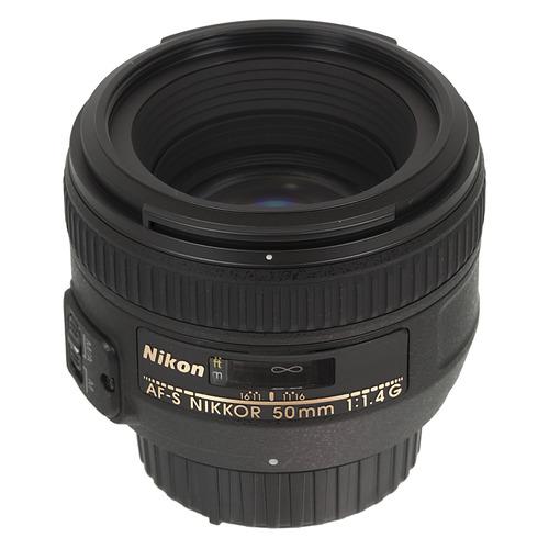 Объектив NIKON 50mm f/1.4 Nikkor AF-S, Nikon F [jaa014da] объектив nikon 50mm f 1 4g af s nikkor jaa014da