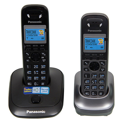 Радиотелефон PANASONIC KX-TG2512RU2, титан радиотелефон
