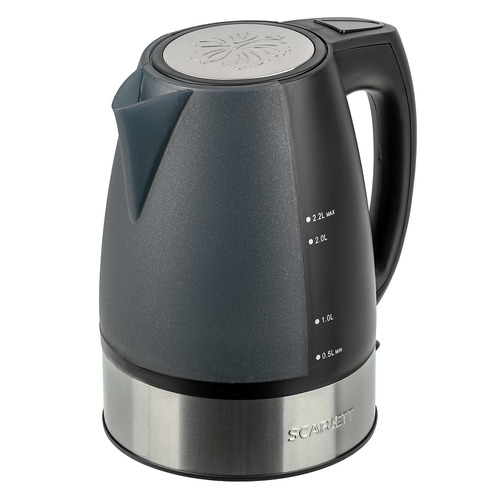 Чайник электрический SCARLETT SC-1020, 2200Вт, черный SC - 1020