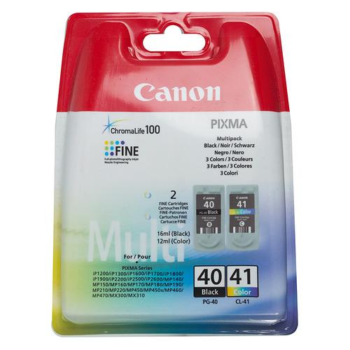 цена на Картридж CANON PG-40+CL-41, черный / трехцветный [0615b043]