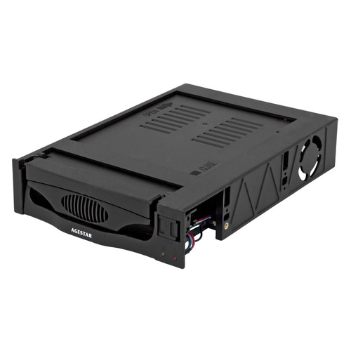 Mobile rack (салазки) для HDD AGESTAR MR3-SATA(S)-1F, черный цена