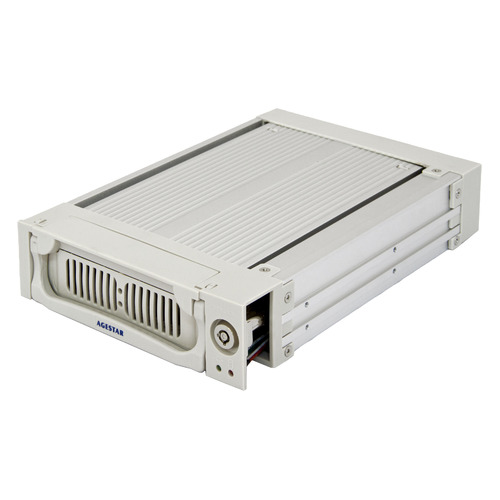 Mobile rack (салазки) для HDD AGESTAR AMR1- SATA(K)-1F, серебристый 3 5 inch sata hdd frame mobile rack internal hdd case cd rom space tool free design support max 6tb 1106ss