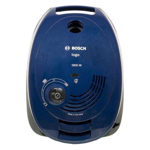 Пылесос BOSCH BSG61800RU, 1800Вт, синий все цены