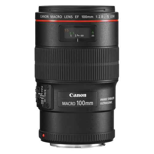 Объектив CANON 100mm f/2.8L EF IS USM, Canon EF, черный [3554b005] original new canon ef 100mm f 2 8 f2 8 macro usm lens