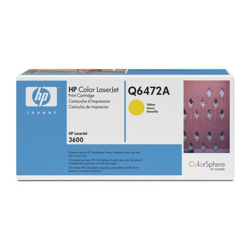 Картридж HP Q6472A, желтый