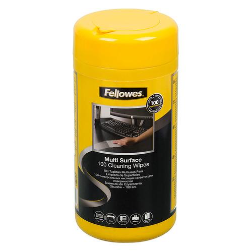 Влажные салфетки FELLOWES FS-99715, 100 шт (туба) цена и фото