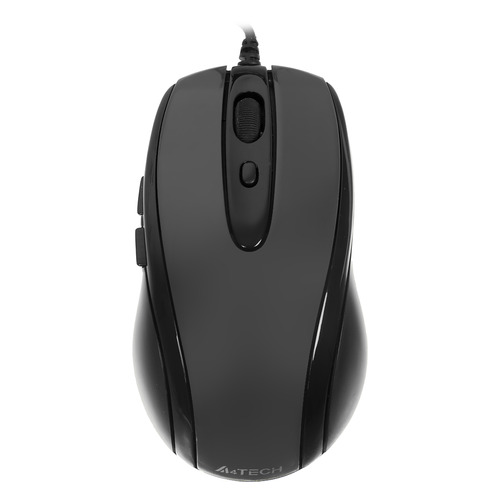 Мышь A4 V-Track Padless N-708X-1, оптическая, проводная, USB, серый мышь a4 v track padless n 770fx черный