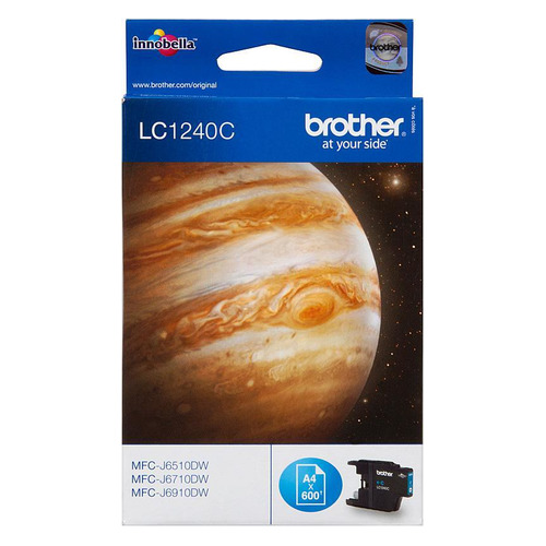 Картридж BROTHER LC1240C голубой replacement ink cartridge for brother mfc j6510dw more