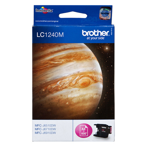 Картридж BROTHER LC1240M пурпурный replacement ink cartridge for brother mfc j6510dw more