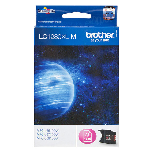 Картридж BROTHER LC1280XLM пурпурный replacement ink cartridge for brother mfc j6510dw more
