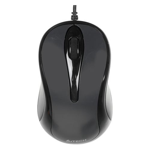 цена на Мышь A4 N-350, оптическая, проводная, USB, серый [n-350-1]