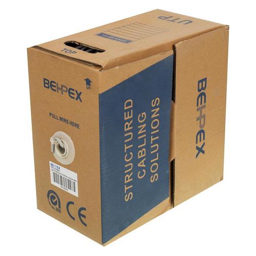 Кабель сетевой UTP, cat.5E, 305м, 4 пары, 0.48мм, медь, одножильный (solid) кабель utp indoor 4 пары категория 5e lanmaster одножильный медь 305 м оранжевый
