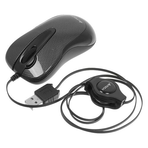 Мышь A4 V-Track Padless N-60F-2, оптическая, проводная, USB, черный мышь a4 v track padless n 770fx черный