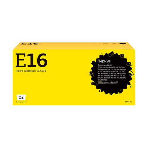 Картридж T2 E-16, черный [tc-ce16] картридж t2 cb324he 178xl ic h324