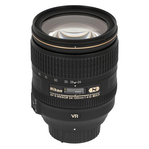 Фото - Объектив NIKON 24-120mm f/4 AF-S ED VR, Nikon F [jaa811da] цифровой фотоаппарат nikon z6 ii kit 24 70 f 4 s без адаптера