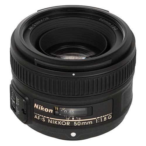 Объектив NIKON 50mm f/1.8 AF-S, Nikon F [jaa015da] JAA015DA