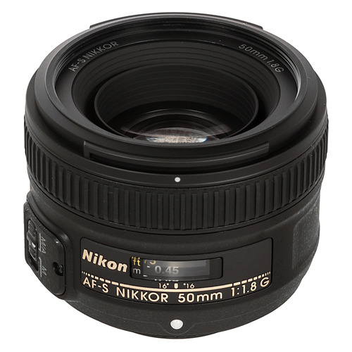 Фото - Объектив NIKON 50mm f/1.8 AF-S, Nikon F [jaa015da] объектив nikon 50mm f 1 4d af