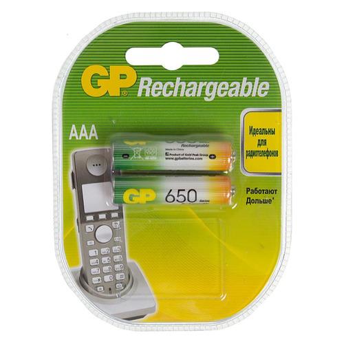 Фото - AAA Аккумулятор GP 65AAAHC, 2 шт. 650мAч aaa аккумулятор gp 65aaahc 2 шт 650мaч