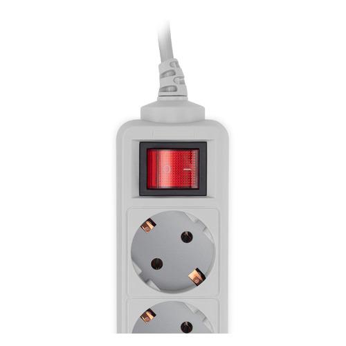 Сетевой фильтр PC PET AP01006-3-G, 3м, серый