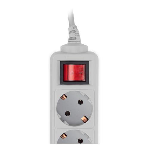 Сетевой фильтр PC PET AP01006-5-G, 5м, серый