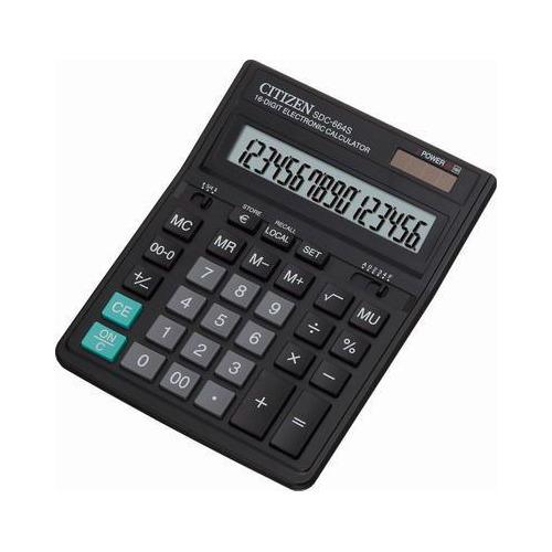 цена на Калькулятор CITIZEN SDC-664S, 16-разрядный, черный