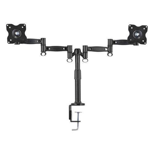 Фото - Кронштейн для мониторов ЖК Kromax OFFICE-3 серый 15-32 макс.12кг настольный поворот и наклон подставка для монитора fellowes fs 91713 10 21 gray настольный до 36 кг