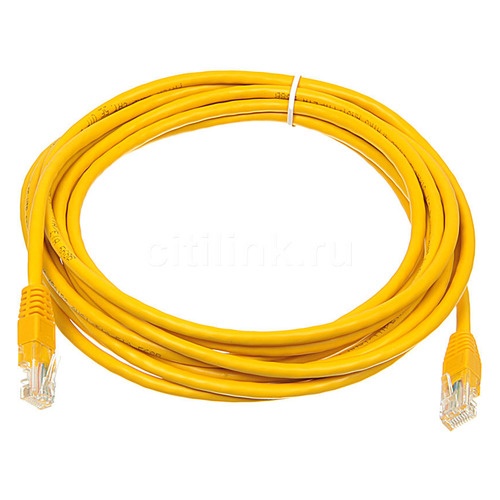 Фото - Патч-корд литой (molded), cat.5E, 5м, 1 шт, желтый патч корд 5e категории utp серый vention 5м vap a10 s500