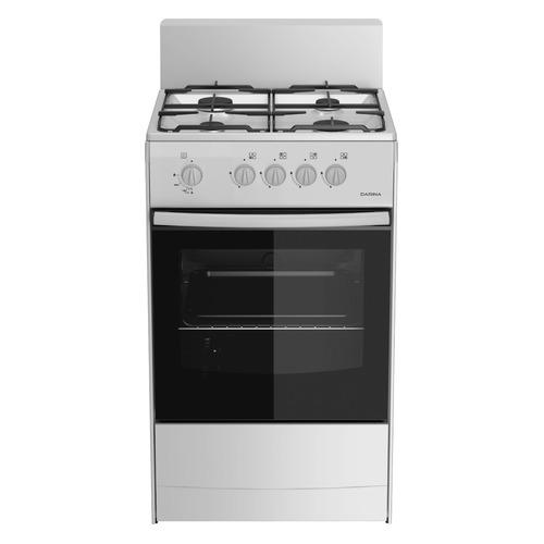 лучшая цена Газовая плита DARINA S GM 441 001 W, газовая духовка, белый