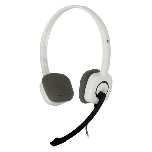 Гарнитура LOGITECH H150, 981-000350, для контактных центров, накладные, белый цена и фото