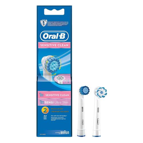 Сменные насадки для электрических зубных щеток ORAL-B Sensitive Sensitive clean + Sensi Ultra Thin, 2 шт [81317999|81317999] насадки для электрических зубных щеток braun oral b precision clean