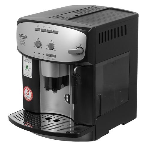 Кофемашина DELONGHI Caffe Corso ESAM 2800.SB, серебристый/черный кофе зерновой ciao caffe rosso classic