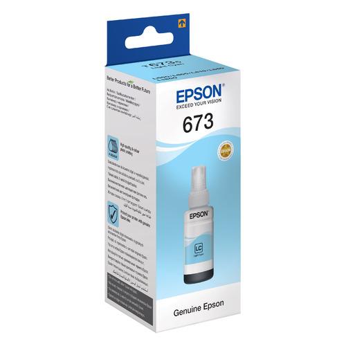 Картридж EPSON T6735, светло-голубой [c13t67354a] картридж epson t6735 c13t67354a для epson l800 светло голубой