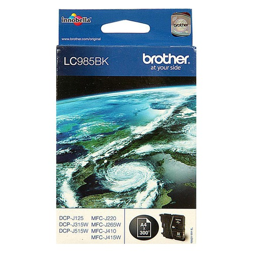 Картридж BROTHER LC985BK черный brother lc985bk black картридж для brother dcp j315w dcp j515w mfc j265w