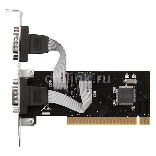 Контроллер PCI WCH351 2xCOM Bulk контроллер orient xwt pe2s1p pci e 2xcom 1lpt mcs9901cv ret