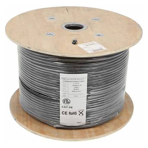 Кабель информ. Lanmaster (LAN-5EFTP-WP-OUT) кат.5е F/UTP 4X2X24AWG PE внеш. 305м кабель lanmaster lan 5eftp wp out ftp 4