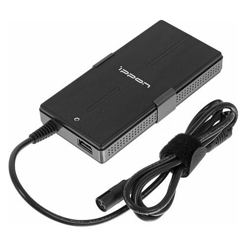 Фото - Адаптер питания IPPON S65U, 65Вт, Универсальный (M1-M8), черный универсальный блок питания для ноутбуков нетбуков и цифровой техники на 90w с usb портом 2 1a
