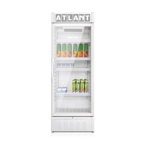 Винный шкаф АТЛАНТ XT-1007, однокамерный, серебристый атлант холодильная витрина атлант хт 1003 белый однокамерный